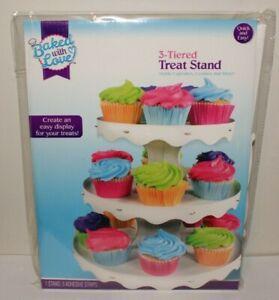 3-Tier Cupcake Stand Round White Cake Dessert Pastry Display Tower Holder