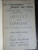 Chronique filmée du Mois 1936 Juillet en Espagne Notes croquis par Chas Laborde