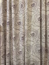 IKEA Set of 2 INGERLISE Mod Floral Unlined Grommet Curtain Panels 52x98 (RF915)