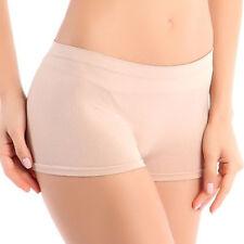 New Women Yoga Sports Gym Workout Waistband Skinny Shorts Pants Flesh