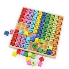 99 Multiplication Table Math Arithmetic Teaching Aids Wooden Children Puzzle Toy