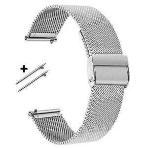 Uhrenarmband 18 20 22mm Edelstahl Mesh / Milanaise Silbern Metall Schnellwechsel