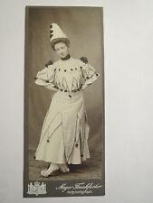 Wesel - 1905 - Frau als Clown verkleidet - Kostüm - Verkleidung - Portrait / CDV