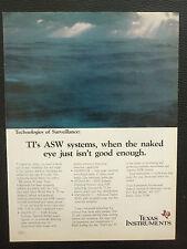 7/1987 PUB TEXAS INSTRUMENTS ELECTRONICS ASW MARITIME SURVEILLANCE RADAR AD