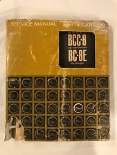 Rowe Model BCC-8 Bill Coin Changer Service Manual and Parts Catalog