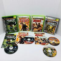 Tom Clancy's Rainbow Six Vegas 1 2 Splinter Cell Ghost Recon 2 Xbox 360 Lot Of 4