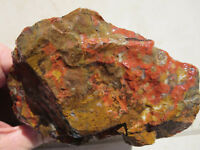 1642  POPPY JASPER ROUGH, PROBABLY FROM MORGAN HILL, CA.  EX OLD TIME ROCK SHOP