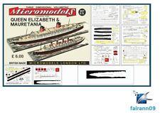 1953 Micromodels Set (S9) Cunard RMS Liners Queen Elizabeth & Mauretania SEALED