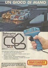 X2448 MATCHBOX - Pista Turbosprint Le MANS - Pubblicità 1980 - Advertising