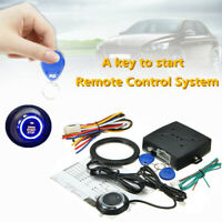 12V Car Engine Push Start Button RFID Lock Keyless Entry Ignition Alarm System