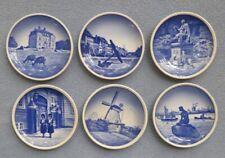 Set of Six Royal Copenhagen Mini Collectors Plates Denmark