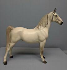 Beautiful Hagen Renaker White DW Tennessee Walking Horse Roan Lady