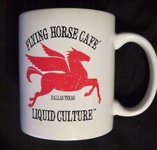 FLYING HORSE CAFE -LIQUID CULTURE Dallas Tx Ceramic Coffee Mug RARE
