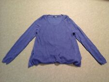Simply Vera Vera Wang,purplish blue linen blend lined sweater,womens M, EUC!