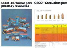 GECO 1970s Cartuchos para Pistolas y Revolveres (in Spanish)