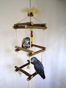 Papageienspielzeug CLIMBING TOWER, riesiges Kletter- u. Schaukelvergnügen *YEAH*