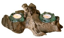Geschenk Deko Gamal Wurzelholz Doppel Teelichthalter Wurzel Holz Glas Teelicht 2