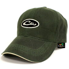 DRAKE WATERFOWL SYSTEMS WATERPROOF WAXED HAT BALL CAP OVAL LOGO OLIVE
