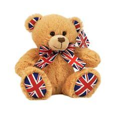 "Retro Cute Super Soft Traditional Style Union Jack Teddy Bear - 20cm 8"" New UK"