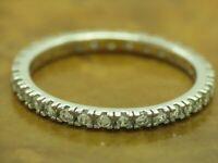 925 Sterling Silber Eternity Ring mit Zirkonia Besatz / Echtsilber / RG 60