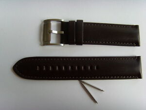 Fossil Original Spare Leather Strap ME1098 Watch Band Braun Brown 22 MM