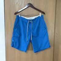 Stio Men's Downwater Board Short Swim Trunks Size 32 Blue Nylon