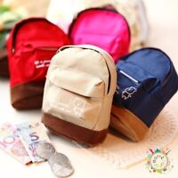 Women Girl Mini Backpack Coin Cards Bag Wallet Hand Pouch Purse Key Holder Cute