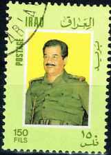 Iraq Dictator Saddam Hussein 1984 stamp