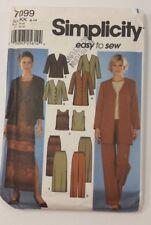 Simplicity Pattern # 7099 Ladies Easy Sew Uncut Shirt Pant Suit Tank Top Size KK