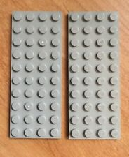 Lego Lot of 2 4x10 Old Light Gray Plates 6086 7839 497 928 6277 4558 6097 924