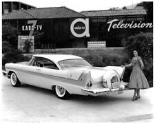 1958 Plymouth Fury w/Continental kit, B&W Factory photo, Refrigerator Magnet
