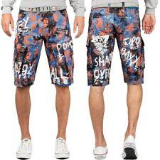 Cipo & Baxx Herren Cargo Shorts kurze Hose Bunt Auffällig Extravagant Dope Cool