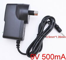 AC 100V-240V Adapter DC 9V 500mA Switching Power Supply 0.5A 3.5mm x 1.35mm AU