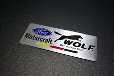 Ford Motorcraft WOLF Embossed Metal Car Auto Badge Emblem Sticker Logo Racing