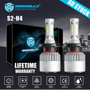 H4 9003 2000W 300000LM LED Headlight kit Lamp Bulbs Globes High Low Beam Upgrade