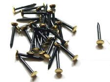 30 Stück Stahlbildernägel 40 mm Schwarz Bildernägel Messingkopf Stahlnägel