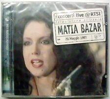 MATIA BAZAR ANTONELLA RUGGIERO I CONCERTI LIVE CD SEALED