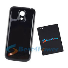 6250mAh Extended Life Battery+Black Cover For Samsung Galaxy S4 Mini i435 i9190