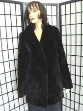 BRAND NEW BLACK SHEARED MINK PAW FUR JACKET COAT WOMEN WOMAN SIZE 10 MEDIUM