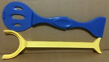 New ListingLot of 2 Easy Bake Oven plastic pan pusher yellow and blue toy pretend spatulas