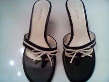 Womens black and white Maripe slide in sandal Size 7.5 medium