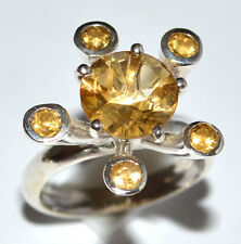 Citrine 925 Sterling Silver Ring Jewelry s.6 JJ1928
