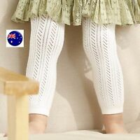 Girls Baby Kid Cotton Dress Footless Knit Tights Stocking Pantyhose 0-24months