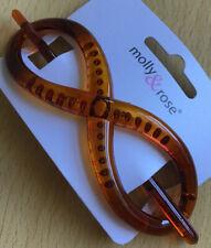 A Tortoiseshell Brown Infinity Design Chignon Type Barrette Hair Pin Clip