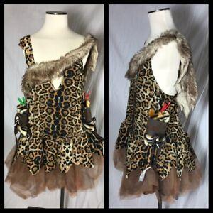 Leg Avenue Cavewoman Cave Girl Cute Mini Dress Costume Gauntlets Size 1x 2X XL