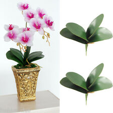 1Bouquet/4Leaves Artificial Butterfly Orchid Leaf Fake Flowers Home Room Decor