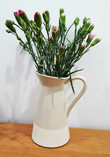 Tall white beige jug vase decoration home decor ornament ideal for flowers