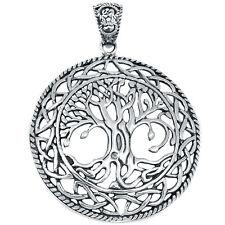 Tree Of Life 925 Sterling Silver Pendant Plain Design Jewelry AAASPJ2049