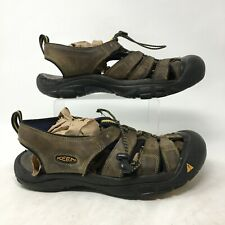 Keen Newport Fisherman Sandals Lock Lace Up Closed Toe Leather Brown Mens 11