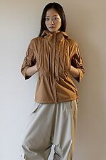 Ailin $525 New Hard Shell Pin-Tuck Jacket XS eco-travel
